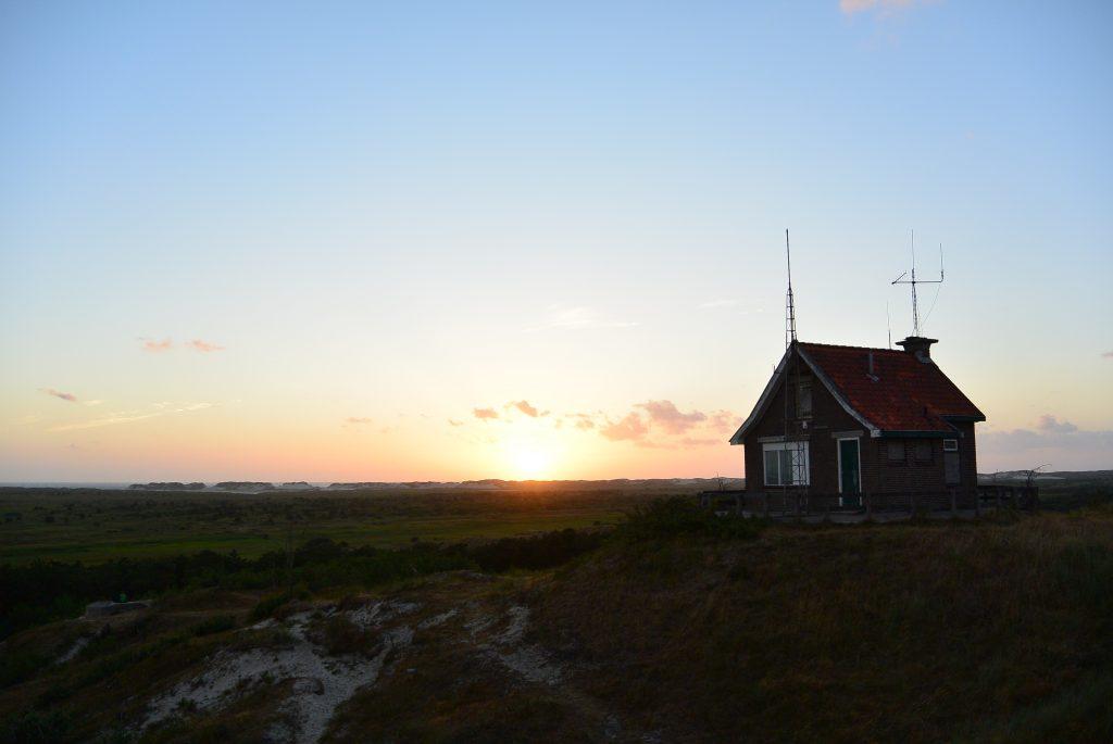 Vanaf het uitzichtspunt bij West-Terschelling heb je een prachtig 360 graden-uitzicht