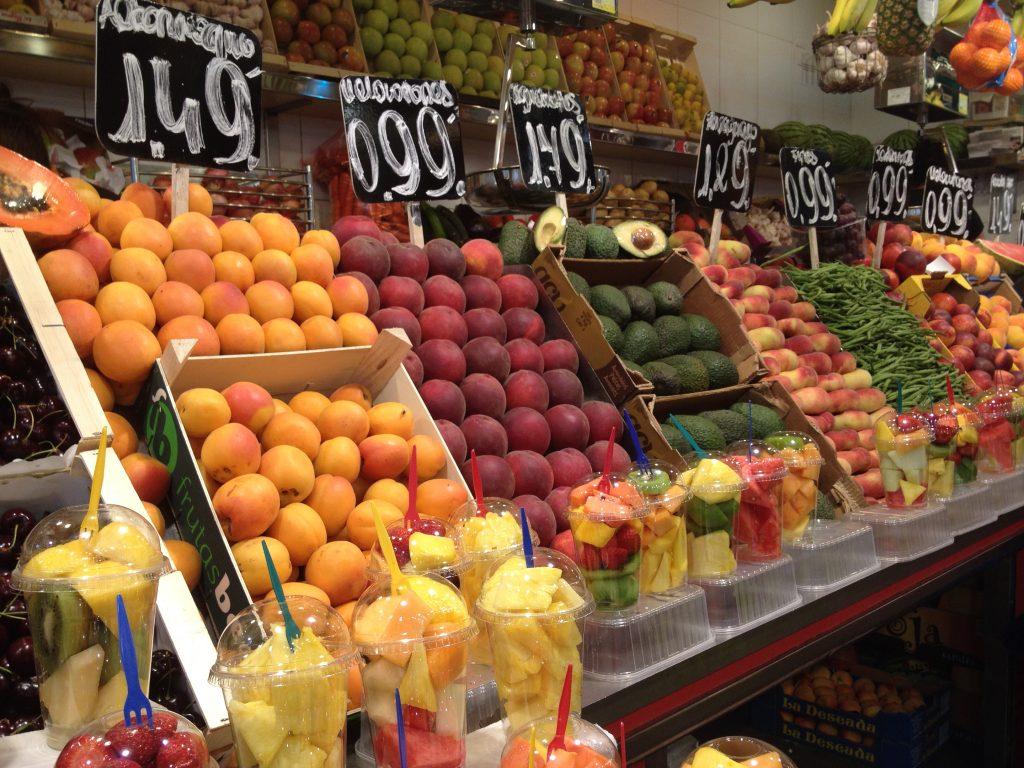 Versmarkt La Boqueria Barcelona