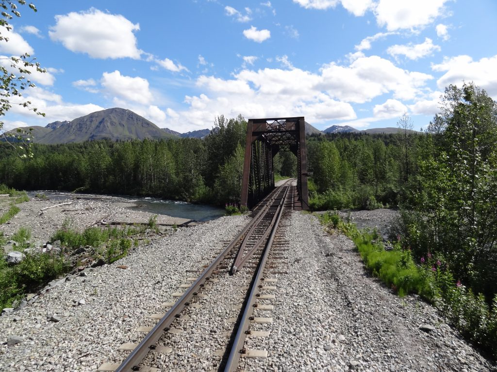 Alaska vanuit de trein