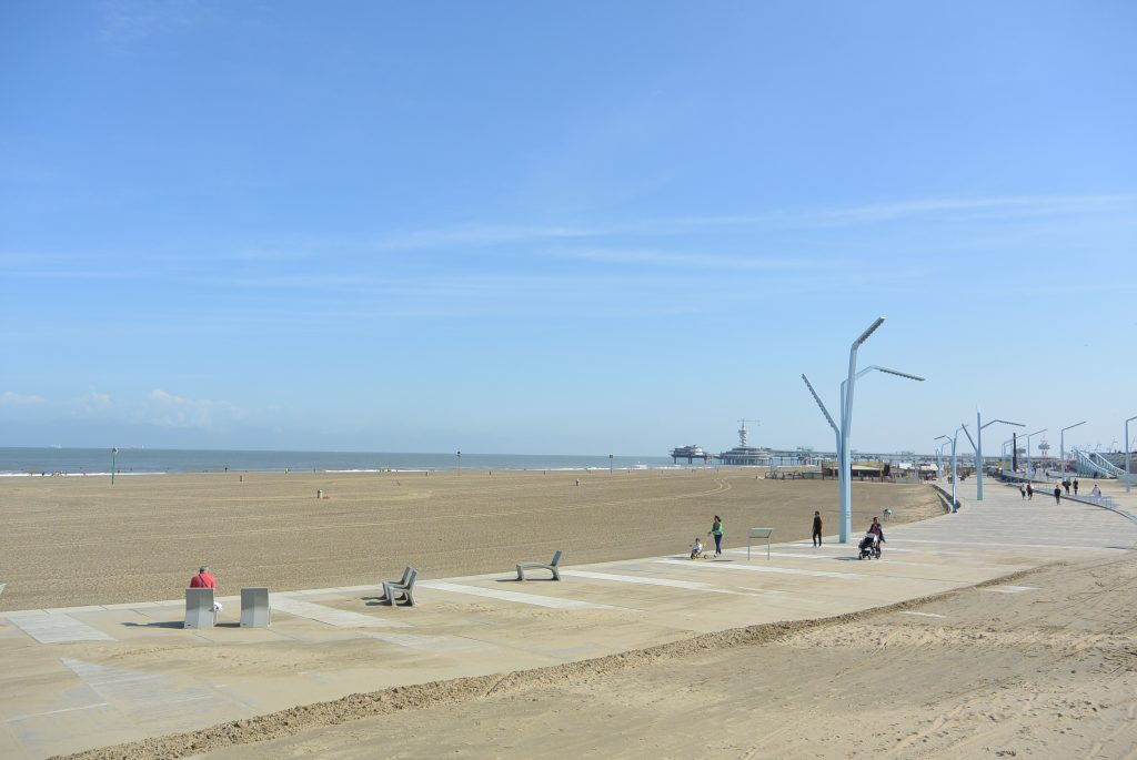 Ten zuiden van de pier is het best rustig!