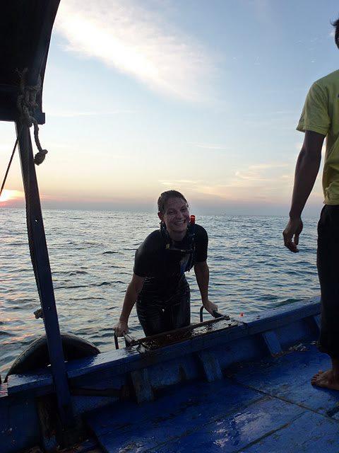 Na mijn eerste duik