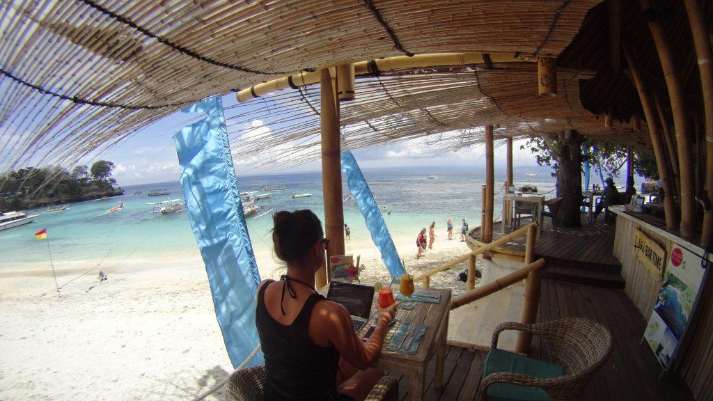 Digital nomad op Nusa Lembongan