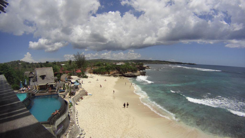 Uitzicht vanaf het restaurant bij Dream Beach