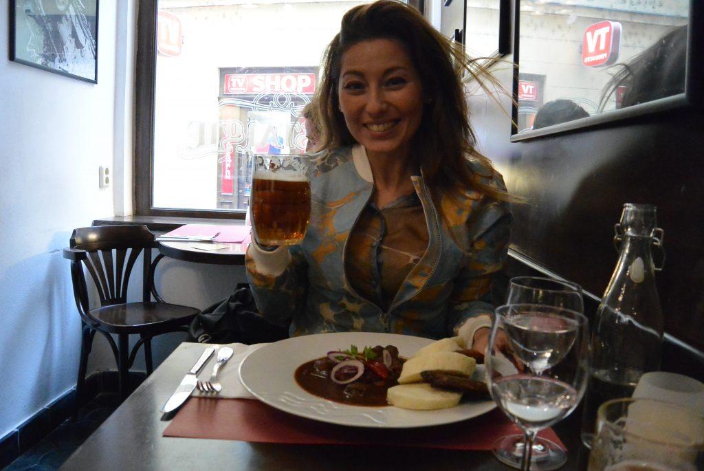 Tsjechische goulash en bier