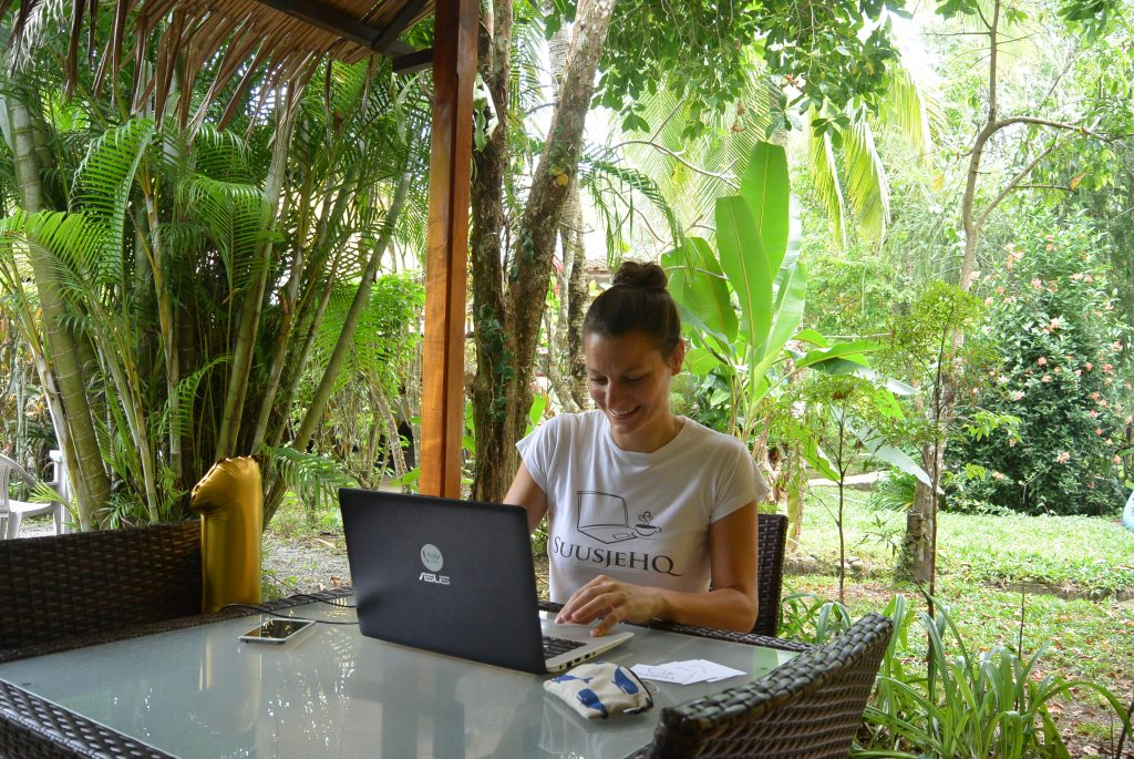 Digital nomad in Puerto Viejo